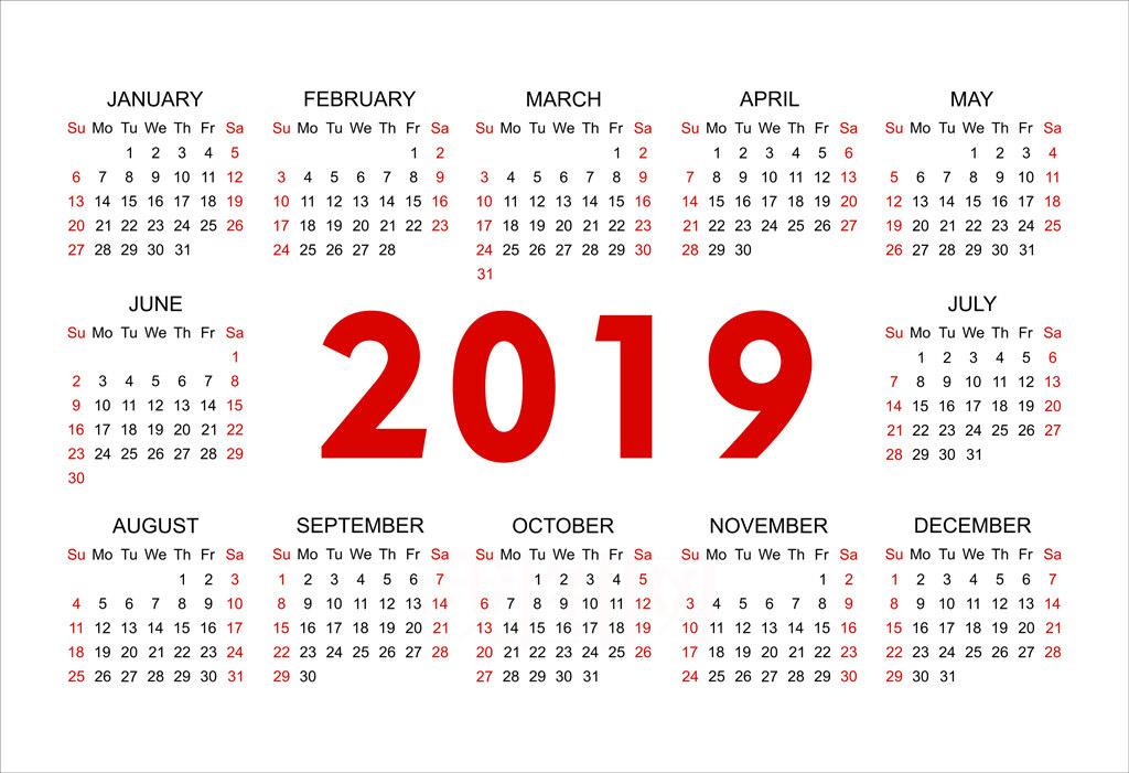 2019行事曆~108年人事行政局行事曆,2019連假攻略