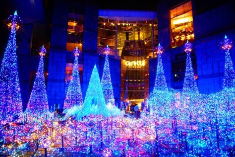 東京汐留藍色星谷聖誕燈飾「Caretta Illumination 2016」~東京聖誕節燈飾2016