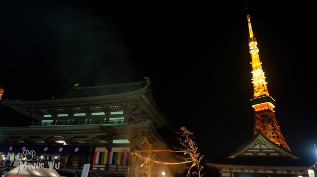 增上寺跨年+東京鐵塔