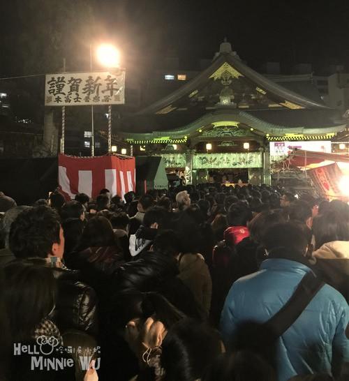[日本東京跨年]湯島天滿宮(湯島天神)新年初詣,第一次日本新年參拜體驗